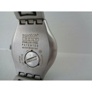 Swatch Accessories - Swatch Irony silver with yellow face